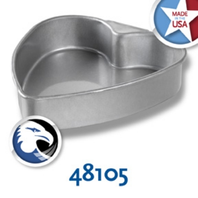 Chicago Metallic 48105 Specialty Heart Cake Pan,  8-13/16 x 8-1/8-in, Aluminized Steel