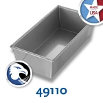 Chicago Metallic 49110 Individual Bread Pan, 10 x 5-in, Aluminized Steel, Wire In Rim