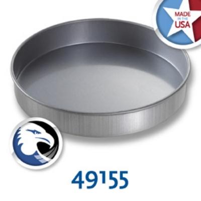 Chicago Metallic 49155 Round Glazed Cake Pan, 9 x 1.5-in, Aluminized Steel