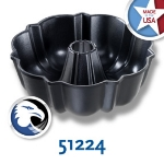Chicago Metallic 51224 Bundt Pan, 6 Cup Capacity, 8-3/16-in, Die-Cast Aluminum, Non-Stick
