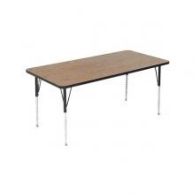 Correll A2460-REC 06 Rectangular Activity Table w/ Oak High Pressure Top, 24 x 60-in