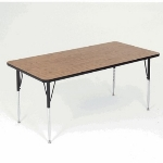 "Correll A3660-REC 01 Activity Table w/ 1.25"" High Pressure Top, 36 x 60"", Walnut"