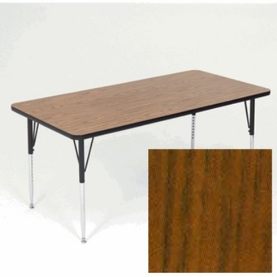 "Correll A2460-REC 02 Activity Table w/ 1.25"" High Pressure Top, 24 x 60"", Oak"