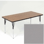 "Correll A3672-REC 13 Activity Table w/ 1.25"" High Pressure Top, 36 x 72"", Dove Gray"