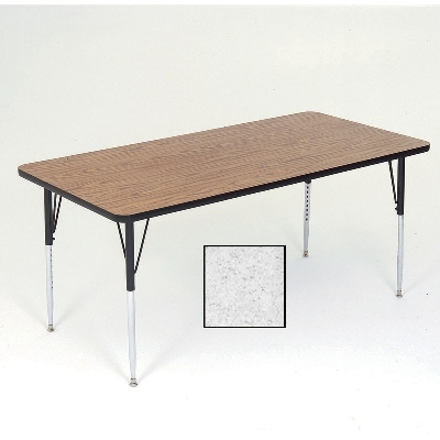 "Correll A2448-REC15 Activity Table w/ 1.25"" High Pressure Top, 24 x 48"", Gray Granite"