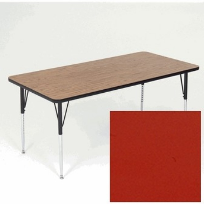 "Correll A3660-REC 35 Activity Table w/ 1.25"" High Pressure Top, 36 x 60"", Red"