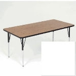 "Correll A2448-REC 36 Activity Table w/ 1.25"" High Pressure Top, 24 x 48"", White"