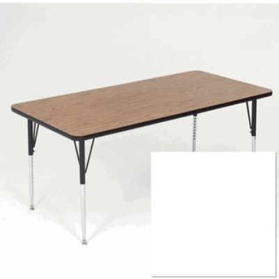 "Correll A2460-REC 36 Activity Table w/ 1.25"" High Pressure Top, 24 x 60"", White"