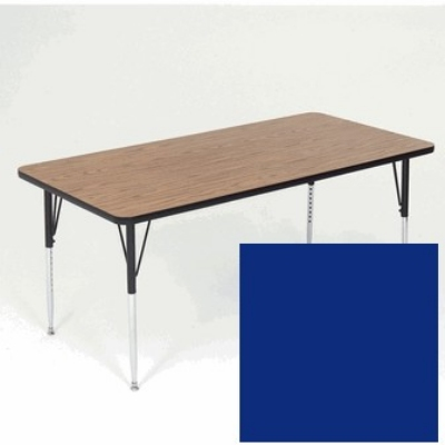 "Correll A3072-REC 37 Activity Table w/ 1.25"" High Pressure Top, 30 x 72"", Blue"