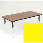 "Correll A2460-REC 38 Activity Table w/ 1.25"" High Pressure Top, 24 x 60"", Yellow"