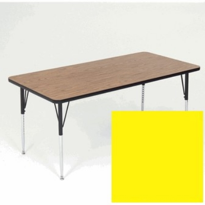 Correll A3672-REC 38 Activity Table w/ 1.25-in High Pressure Top, 36 x 72-in, Yellow