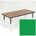 Correll A3048-REC 39 Activity Table w/ 1.25-in High Pressure Top, 30 x 48-in, Green