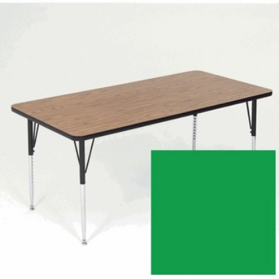 "Correll A2460-REC 39 Activity Table w/ 1.25"" High Pressure Top, 24 x 60"", Green"