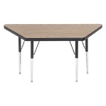 Correll A2448-TRP 06 Trapezoid Activity Table w/ Oak High Pressure Top, 24 x 24 x 48""