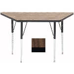 "Correll A2448-TRP 01 Activity Table w/ 1.25"" High Pressure Top, 24 x 24 x 48"", Walnut"