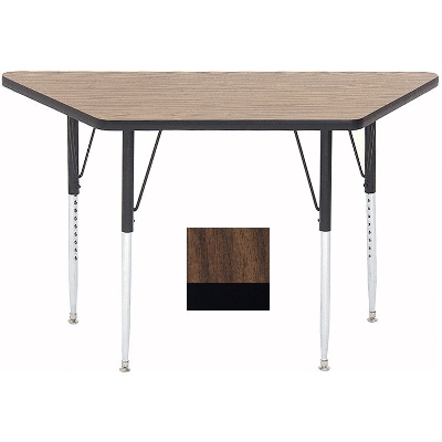 "Correll A3060-TRP 01 Activity Table w/ 1.25"" High Pressure Top, 30 x 30 x 60"", Walnut"