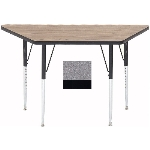 Correll A2448-TRP15 Activity Table w/ 1.25-in High Pressure Top, 24 x 24 x 48-in, Gray Granite