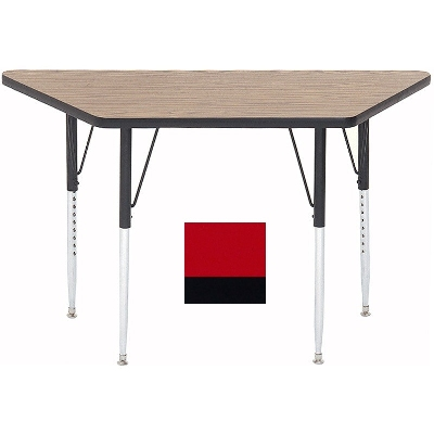 "Correll A2448-TRP 35 Activity Table w/ 1.25"" High Pressure Top, 24 x 24 x 48"", Red"