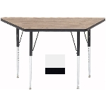 "Correll A2448-TRP 36 Activity Table w/ 1.25"" High Pressure Top, 24 x 24 x 48"", White"