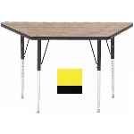 Correll A2448-TRP 38 Activity Table w/ 1.25-in High Pressure Top, 24 x 24 x 48-in, Yellow