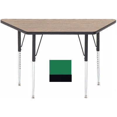 "Correll A2448-TRP 39 Activity Table w/ 1.25"" High Pressure Top, 24 x 24 x 48"", Green"