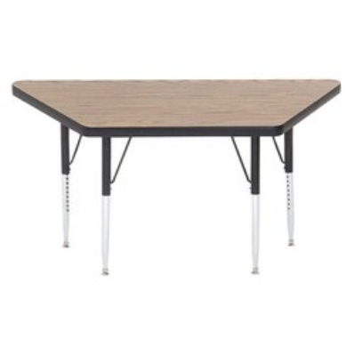 Correll A2448-TRP 06 Trapezoid Activity Table w/ Oak High Pressure Top, 24 x 24 x 48-in