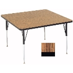 "Correll A4242-SQ 02 Square Activity Table w/ 1.25"" High Pressure Top, 42 x 42"", Oak"