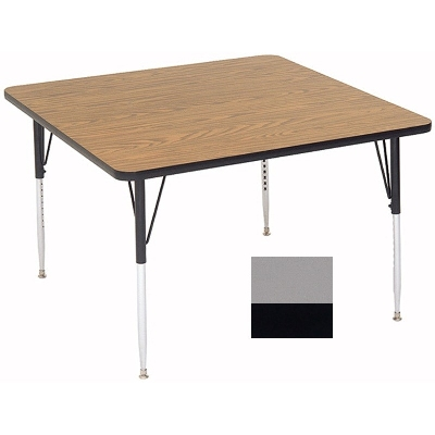 "Correll A3636-SQ 13 Square Activity Table w/ 1.25"" High Pressure Top, 36 x 36"", Dove Gray"