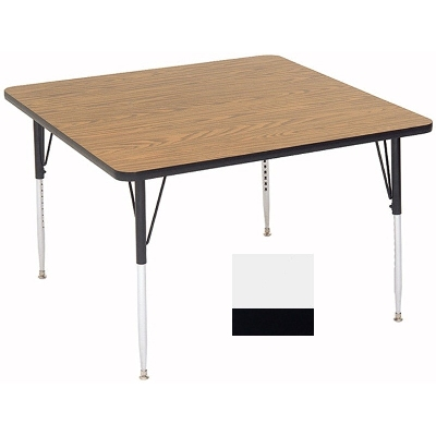 "Correll A4242-SQ 36 Square Activity Table w/ 1.25"" High Pressure Top, 42 x 42"", White"