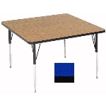 "Correll A4242-SQ 37 Square Activity Table w/ 1.25"" High Pressure Top, 42 x 42"", Blue"
