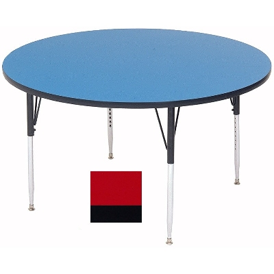 "Correll A42-RND 35 42"" Round Table w/ 1.25"" High Pressure Top, Red"