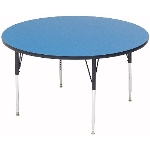 "Correll A48-RND 37 48"" Round Table w/ 1.25"" High Pressure Top, Blue"