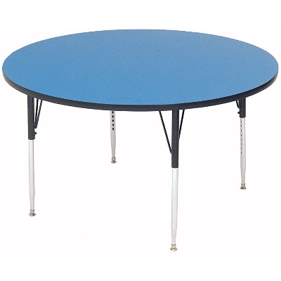 "Correll A60-RND 37 60"" Round Table w/ 1.25"" High Pressure Top, Blue"