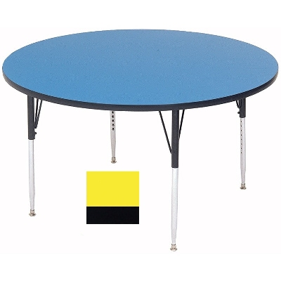 Correll A36-RND 38 36-in Round Table w/ 1.25-in High Pressure Top, Yellow