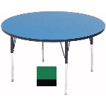 "Correll A60-RND 39 60"" Round Table w/ 1.25"" High Pressure Top, Green"
