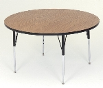 Correll A60-RND 06 Round Activity Table w/ Oak High Pressure Top, 60-in Round