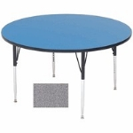Correll A60-RND15 60-in Round Table w/ 1.25-in High Pressure Top, Gray Granite
