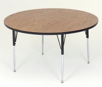 "Correll A48-RND 06 Round Activity Table w/ Oak High Pressure Top, 48"" Round"