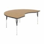 Correll A4896-KID 06 Kidney Activity Table w/ Oak High Pressure Top, 48 x 96-in