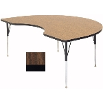 "Correll A4896-KID 01 Activity Table w/ 1.25"" High Pressure Top, 48 x 96"", Walnut"