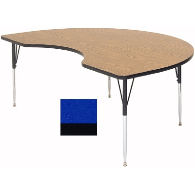 "Correll A4896-KID 37 Activity Table w/ 1.25"" High Pressure Top, 48 x 96"", Blue"