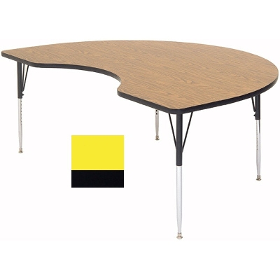 "Correll A4872-KID 38 Activity Table w/ 1.25"" High Pressure Top, 48 x 72"", Yellow"
