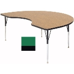 "Correll A4896-KID 39 Activity Table w/ 1.25"" High Pressure Top, 48 x 96"", Green"