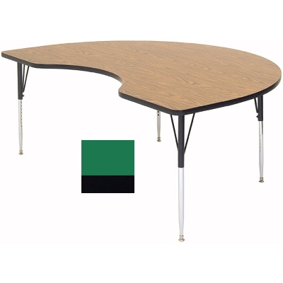 Correll A4896-KID 39 Activity Table w/ 1.25-in High Pressure Top, 48 x 96-in, Green