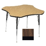 Correll A48-CLO 01 Activity Table w/ 1.25-in High Pressure Top, 48-in Clover Shape, Walnut