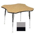 "Correll A48-CLO 13 Activity Table w/ 1.25"" High Pressure Top, 48"" Clover Shape, Dove Gray"