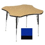 "Correll A48-CLO 37 Activity Table w/ 1.25"" High Pressure Top, 48"" Clover Shape, Blue"