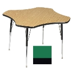 "Correll A48-CLO 39 Activity Table w/ 1.25"" High Pressure Top, 48"" Clover Shape, Green"