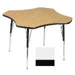 Correll A48-CLO 48 Activity Table w/ 1.25-in High Pressure Top, 48-in Clover Shape, White