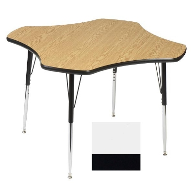 "Correll A48-CLO 48 Activity Table w/ 1.25"" High Pressure Top, 48"" Clover Shape, White"